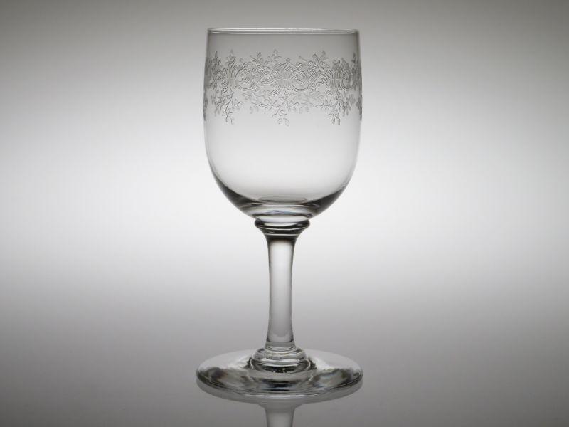 オールド バカラ グラス ● セビーヌ ワイン グラス 12.5cm エッチング クリスタル Sevigne