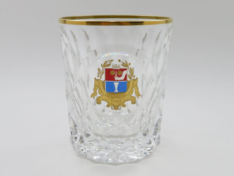 バカラ グラス ● 225周年 記念 ロック グラス オールドファッションド クリスタル アルマニャック 24金 紋章 希少