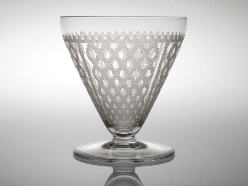 バカラ グラス ● アルハンブラ ワイン グラス 10cm サンドブラスト リボン 格子 Alhambra