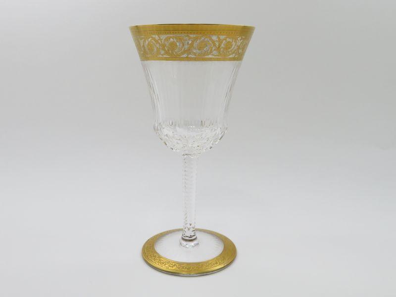 サンルイ グラス ● シスル 金彩 ワイン グラス 16cm サンルイ社 225周年記念 クリスタル Thistle