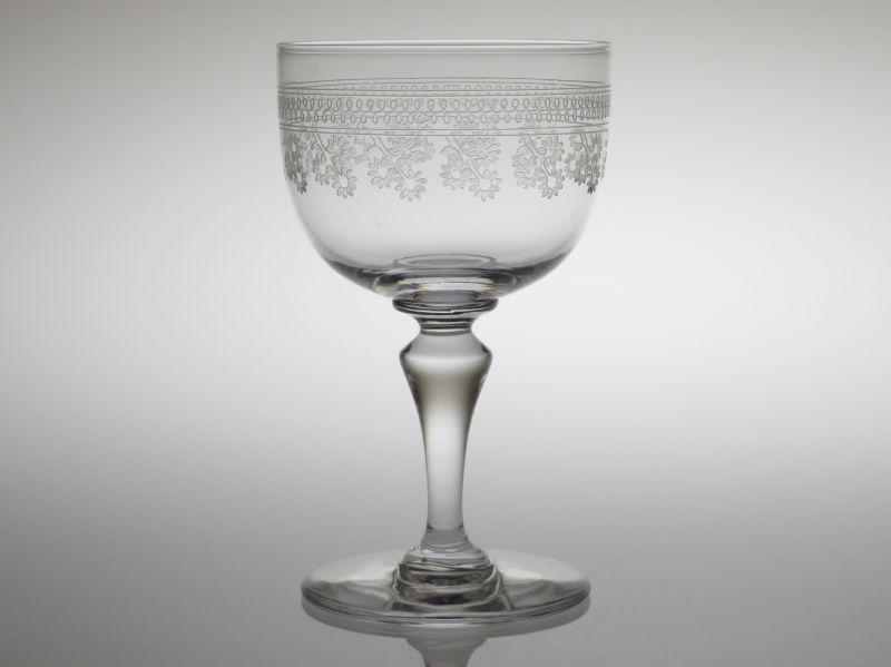 オールド バカラ グラス ● ポンパドール ワイン グラス 11cm クリスタル アンティーク Pompador