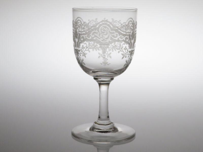 オールド バカラ グラス ● メディチ メディシス ワイン グラス 10.5cm アンティーク カタログ掲載 Medicis