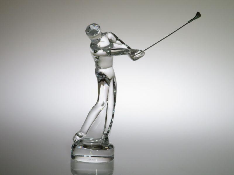 バカラ フィギュリン ● セントアンドリューズ ゴルフ スイング A 金属 クラブ振り上げ ST ANDREWS セントアンドルーズ Golf 箱付き