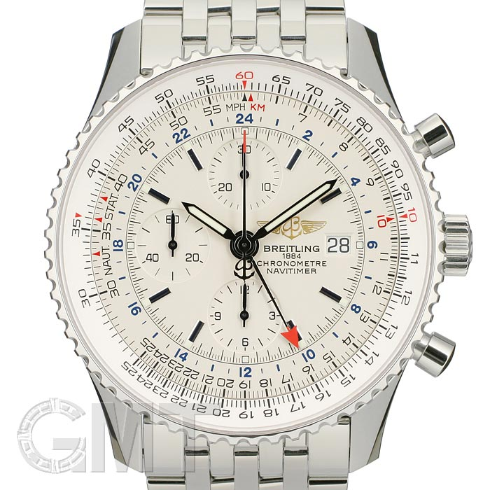 the latest c1a71 a2aaa BREITLING Breitling Navitimer world A242G71NP