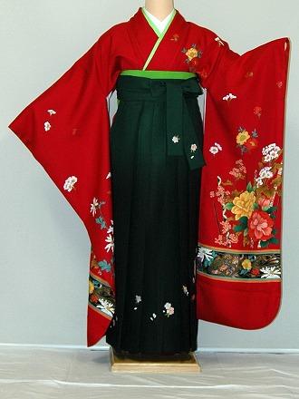【レンタル】振袖、袴(刺繍はかま)レンタル【人気商品】【HF135】