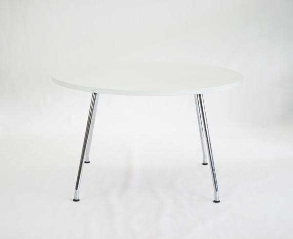 送料無料 中古品 プラス製 PLUS製 テーブル ミーティングテーブル オフィステーブル 丸テーブル オフィス 会議 会議テーブル ホワイト