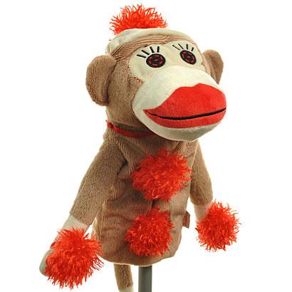 恩爱夫妻冷若冰霜冻结球头盖动物头高尔夫盖袜子猴子头