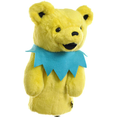 The winning edge WINNINGEDGE Headcover animal head cover Golf cover gratefuldead dancing bear yellow Headcover