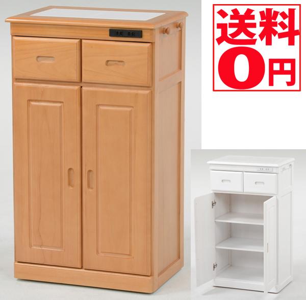 【送料無料】 キッチンカウンター (ナチュラル ホワイト) MUD-6132 SNA/WH