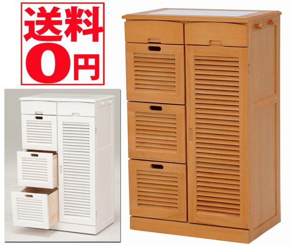 【送料無料】 キッチンカウンター MUD-6827 LBR/WH