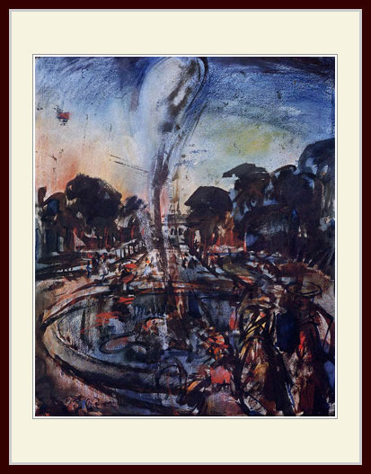 ルオー・「ヴェルサイユ、噴水」
