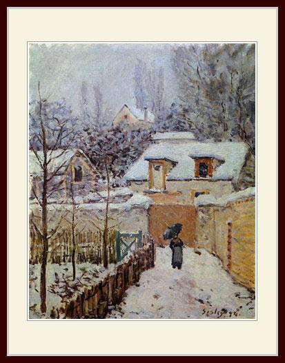 シスレー・「冬のルーヴシエンヌ」