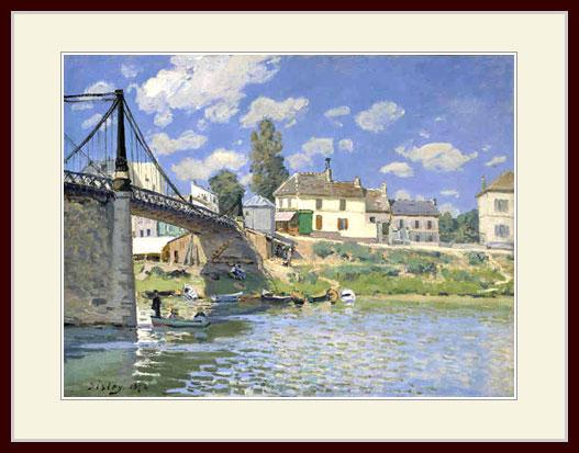シスレー・「ヴァルヌーヴ・ラ・ガレンヌの橋」