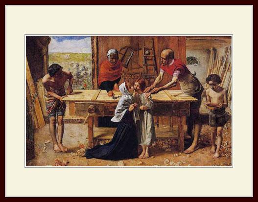 ミレイ・「両親の家のキリスト」