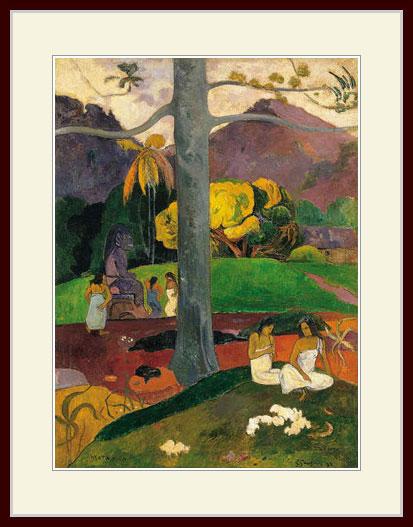 プリキャンバス複製画 デッサン額仕上げ 6号相当サイズ 大特価 ゴーギャン Paul 限定特価 Gauguin