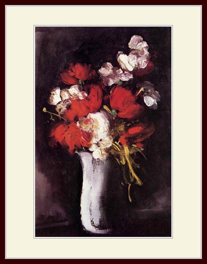 ヴラマンク・「赤い芍薬」