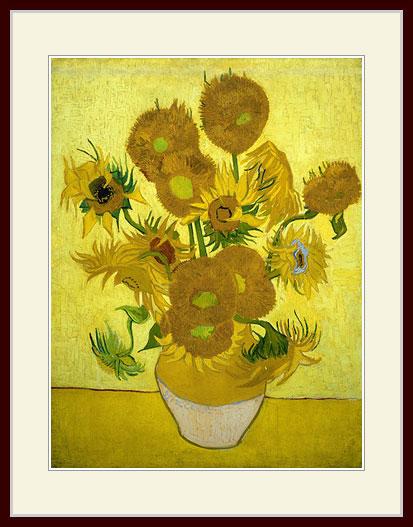 プリキャンバス複製画 デッサン額仕上げ 6号相当サイズ ゴッホ ついに入荷 美品 Amsterdam ひまわり Gogh Museum