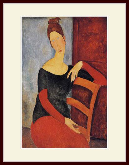 モディリアーニ・「椅子に肘をつくジャンヌ・エピュテルヌ」