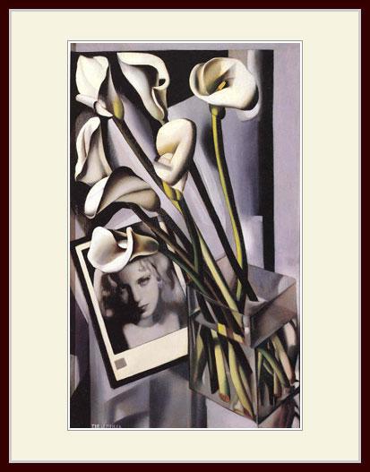 レンピッカ・「カラーの花とアルフレッド・ブッカール」