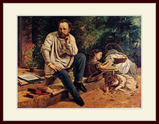 クールベ・「1853年のピエール=ジョゼフ・プルードン」