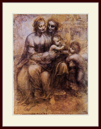 ダヴィンチ・「聖アンア、聖母子と聖ヨハネ」