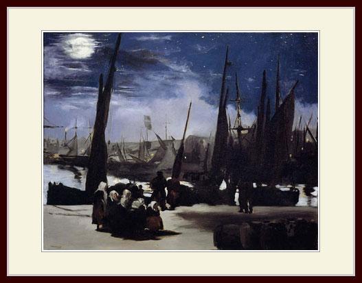 マネ・「月明かりのブーローニュ港」