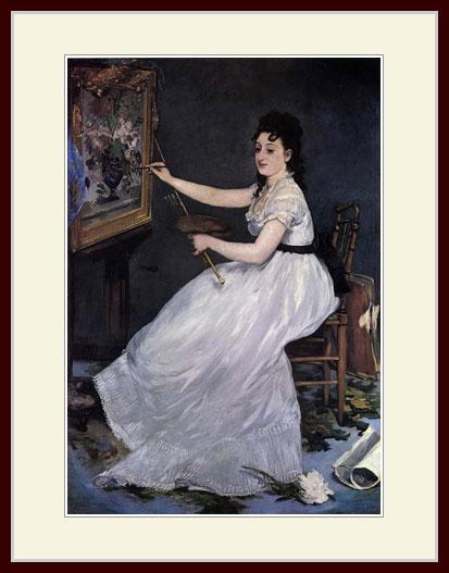 マネ・「エヴァ・ゴンザレスの肖像」