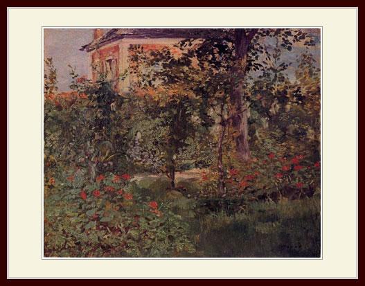 マネ・「ベルヴェの庭の一隅」