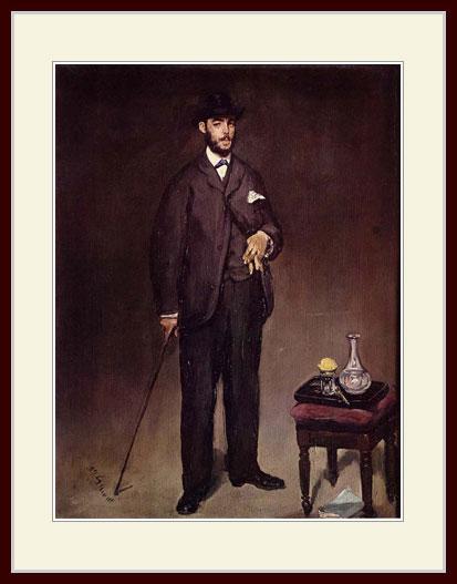 マネ・「テオドール・デュレの肖像」