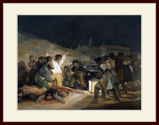 ゴヤ・「プリンシペ・ピオの丘での虐殺」
