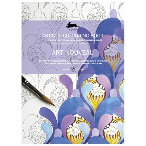 ペピン PEPIN いつでも送料無料 オランダの出版社が販売する大人の塗り絵 カラーリングブック アールヌーヴォー プレゼント ギフト 贈物 ぬりえ