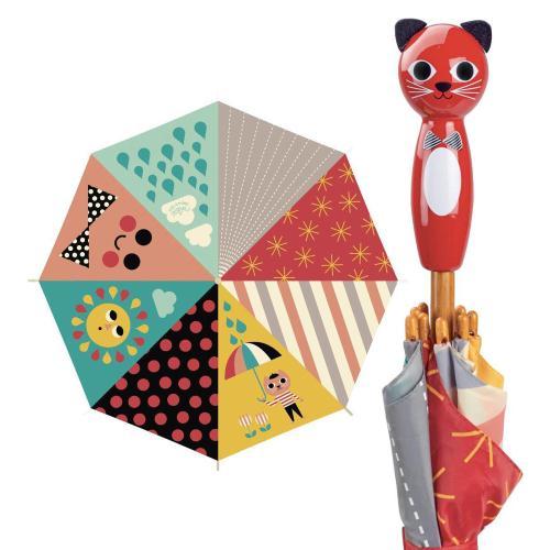セール特価 セール品 ヴィラック フランス 木のおもちゃ キャット こども用傘 カサ