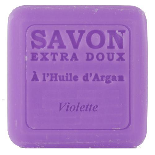 フランス プロヴァンスのナチュラルボディケア 石けん ギフト アルガンオイルソープ100g バイオレット プレゼント プランツ 石鹸 驚きの値段 使い勝手の良い 女性 パルファム