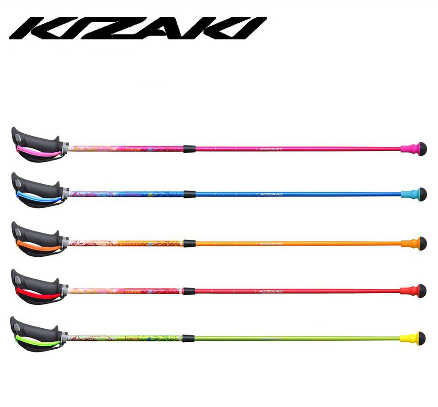 85cm~105cm KIZAKI キザキ 細身伸縮 アルミ +アルミ 2段コマ 式 伸縮ポール 軽量 ノルディックポール ノルディックウォーキング 登山 APAE-204SP