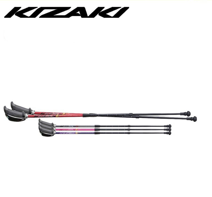 85cm~115cm KIZAKI キザキ 3段伸縮 式 アルミシャフト コンパク ト3段 伸縮 式ポール ノルディックポール ノルディックウォーキング 登山 アルミ APAJ-303A