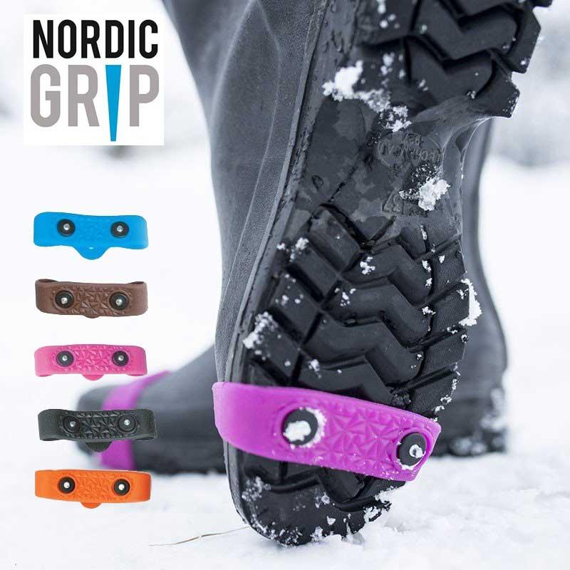 NORDIC GRIP(ノルディックグリップ) MINI 靴底用 滑り止め 雪対策 積雪 雪道 スパイク アイスグリッパー スノーグラバー 転倒防止 滑らない
