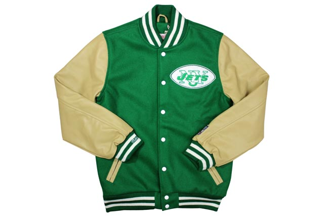 save off c4581 28ca4 MITCHELL NESS NFL VARSITY JACKET (New York Jets: GREEN) Mitchell & ness and  Stadium jacket and Stellan / Green