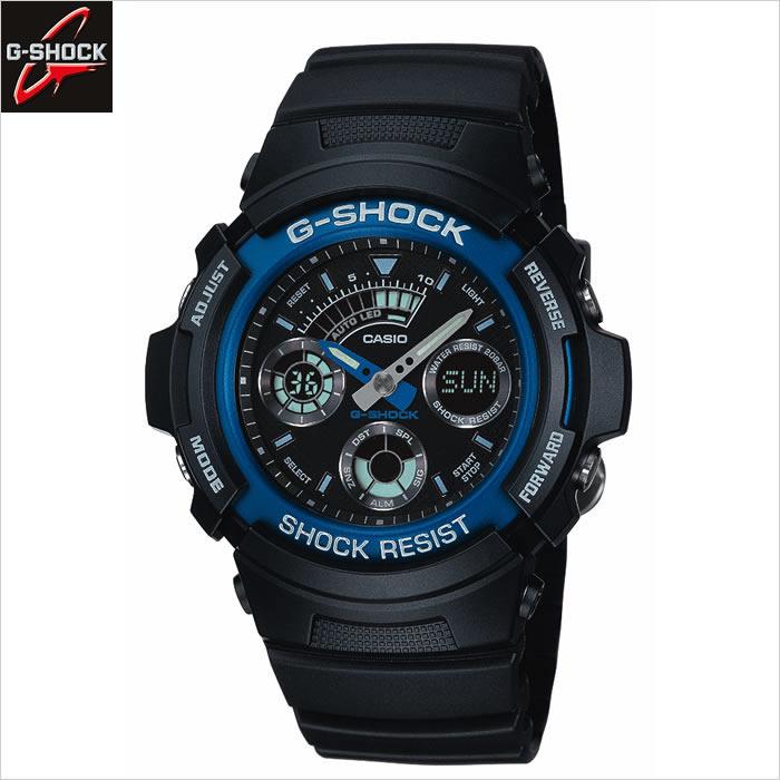 カシオCASIOジーショックG SHOCKAW 591 2A JF デジタルアナログモデルブルー腕時計 時計誕生日 プレゼント 贈り物 ギフト7IYby6gfv