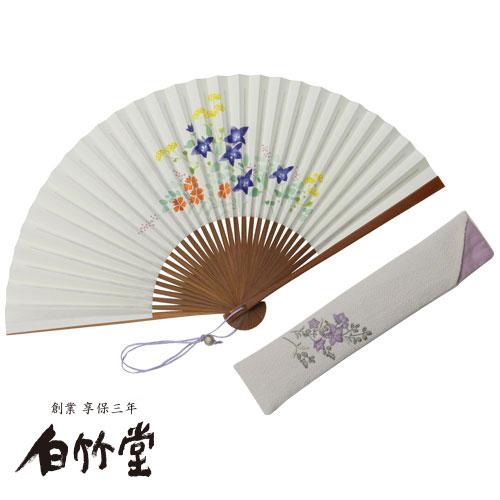 白竹堂 小雛(こひな)秋草扇子セット 女性用