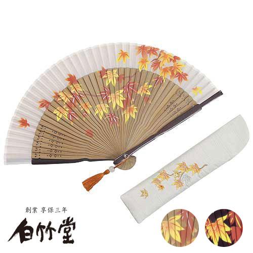 白竹堂 楓華(ふうか)扇子セット 全2種類 女性用