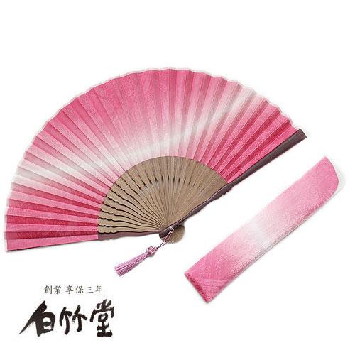 白竹堂 加賀友禅(かがゆうぜん)-婦人-扇子セット 全5種類 女性用 母の日