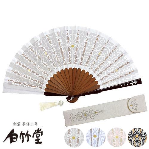 白竹堂 ノーブル扇子セット 全4種類 女性用 母の日