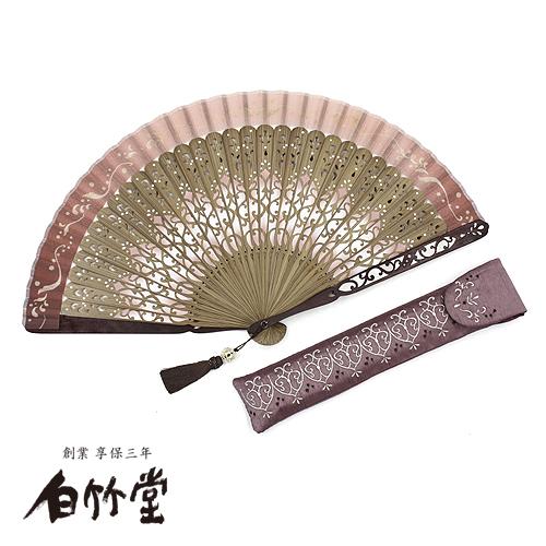 白竹堂 ポンパドールアラベスク扇子セット 全2種類 女性用