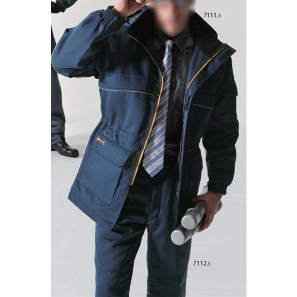 作業服 バートル(BURTLE) ワークボックス 7111 防寒コート(大型フード付) 4L