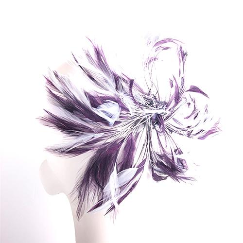 羽根を使ったブライダル用ヘッドドレスです オンライン限定商品 羽 フェザー アクセサリー パーツ 手芸 アクセサリ ヘットドレス白 しゅげい 羽根 羽根飾り 激安超特価