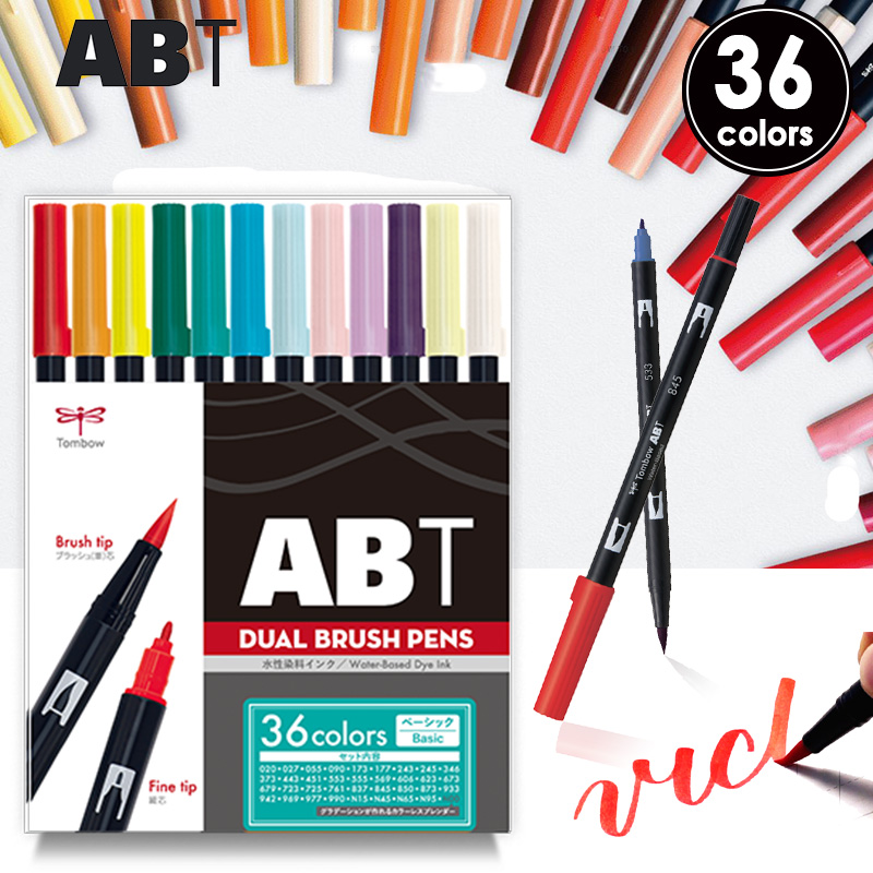 Tombow Dual Brush Pen Basic colour 36 pen set