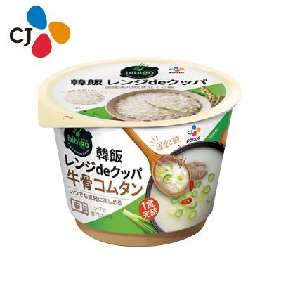 即席食品/加工食品/栄養/簡単料理/ 【CJ】bibigo 韓飯 レンジdeクッパ 牛骨コムタン(172g)