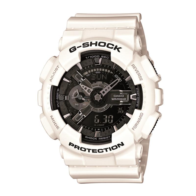 カシオ CASIO メンズ腕時計 G-SHOCK GA-110GW-7AJF ブラック/ホワイト