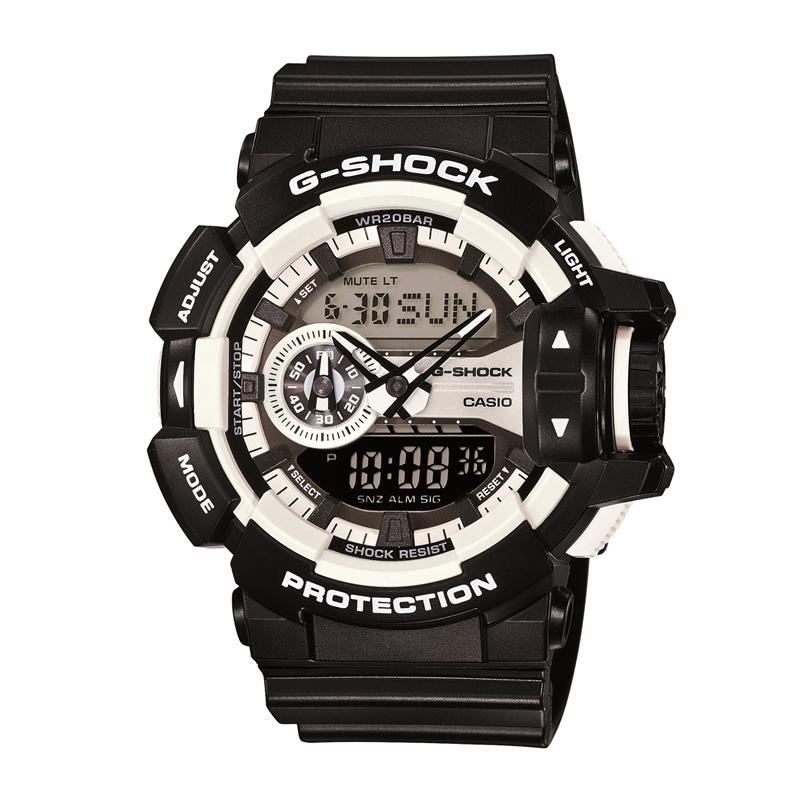カシオ CASIO メンズ腕時計 G-SHOCK GA-400-1AJF ホワイト/ブラック