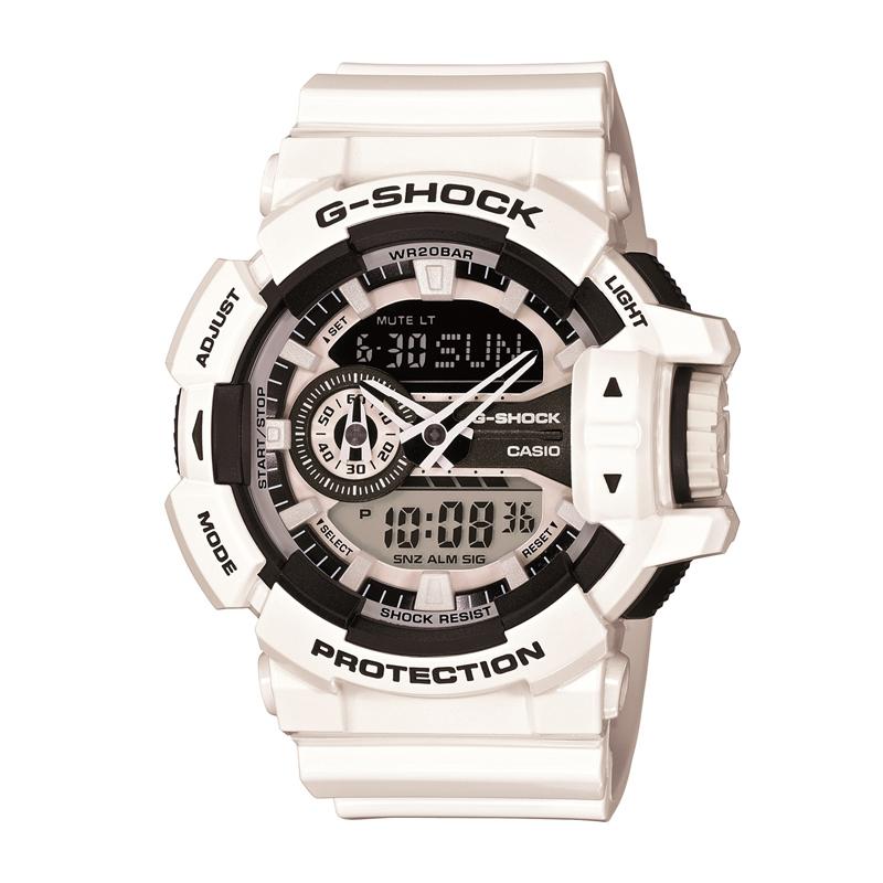 カシオ CASIO メンズ腕時計 G-SHOCK GA-400-7AJF ホワイト/ホワイト